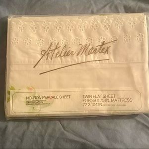 Vintage Atelier Martex twin percale sheet USA